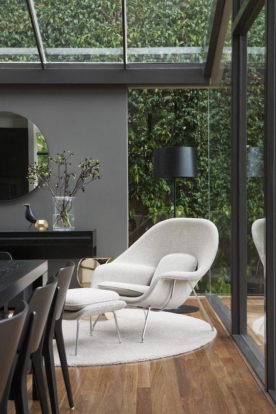 terrazas acristaladas con decoracion minimalista